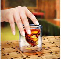 Wholesale 2015 Special Offer Wine Glass Eco Friendly Crystal Skull Head Vodka Shot Glass Pirate Glasses Beer Mug Ounces New Cup