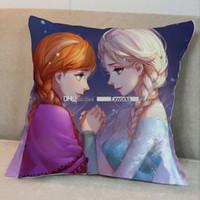 Wholesale Frozen Princess Elsa Anna Fashion Pillow Case CM Cartoon Cushion Cover Multipatterns Both Side Can Choose