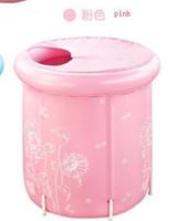 Wholesale Ultralarge adult nylon cloth folding bath bucket lid inflatable bathtub