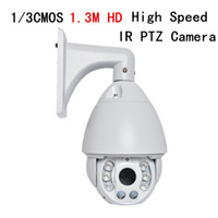 Wholesale 7 inch CMOS Megapixel HD x optical zoom IR M Network IP PTZ High speed Dome camera LED LED Laser lights