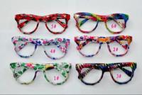 Wholesale Hot or mic new Kids Flower Sunglasses Frames Retro no Lens Frame Cool Glasses colors
