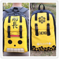 Wholesale Anime One Piece Luffy PU School Backpack Men and Women Sports Travel Backpack Bag