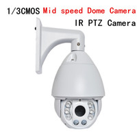 Wholesale 7 inch CCTV TVL X Optical Zoom Presets Intelligent Variable IR medium speed PTZ Dome Cameras LED LED laser lights