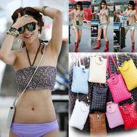 Cross Body Men Plain Cheap Price Wholesale 2014 Woman Casual Woven Bag Phone Package PU Fashion Bags Cross Body [CA05055*2]