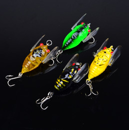 Top Quality Fishing Lure 4color 4cm 6.4g fishing tackle Cicada Classic Proberos style Minnow fishing bait 40pc lot Freeship