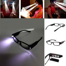 Wholesale Hot Strength Women Men LED Reading Glass Eyeglass Spectacle Diopter Magnifier Light UP