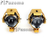Wholesale New Piece U5 Shell LED Cree Motorcycle parts Headlight Fog Light Moto Spot Light With Strobe Function For Car Bicycle Truck pazoma