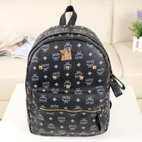Wholesale 2014 new Backpacks PU leather Backpacks MCM Backpacks Rivet Backpacks T06 can choose the color