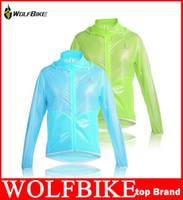 achat en gros de veste de cyclisme mince imperméable-WOLFBIKE Tour de France ultra-mince 100% coupe-vent imperméable Hommes Cyclisme Vélo Vélo Vêtements Veste Manteau de pluie qualité Jersey hight