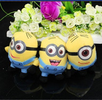 Wholesale MN Movie Despicable Me Minion Cartoon Characters Plush Stuffed Toys Pendant Car Ornaments Home decorative