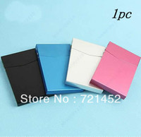 automatic business card holder - MN New Business Card Case Holder Box Automatic Switch Cigarette Case Pocket Slim