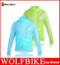 WOLFBIKE Tour de France Ultra-mince 100% imperméable à l'eau Vêtements coupe-vent Vêtements de vélo Vélos Vêtements de pluie Veste de pluie Jersey haute qualité cheap cycling jacket waterproof thin à partir de veste de cyclisme mince imperméable fournisseurs