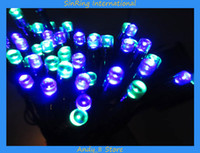 Wholesale Free DHL Outdoor m Bulbs Solar Power LED Light String Christmas Wedding New Year Holiday Party Decoration Available