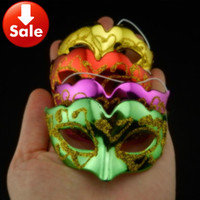 masquerade decorations - Halloween Masks Gold plating Super mini cute fox mask Venetian Masquerade Party decoration novelty gift mix color