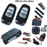 Wholesale passive car alarm system is with GSM module and GPS module free down mobile APP free trackin platfrom long distance remote start push start