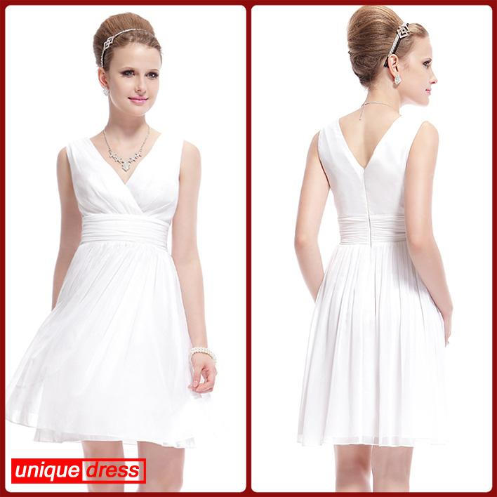 Off the rack bridesmaid dresses under 100 simple white for Short white wedding dresses under 100