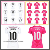 Wholesale 7 RONALDO JAMES BALE SERGIO RAMOS KROOS ISCO RM madrid Shirt Home Away Thailand quality soccer jersey Spain