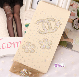 Wholesale Rhinestone Diamond Tattoo Cartoon Invisible Through the Meat Thin Stockings Pantyhose