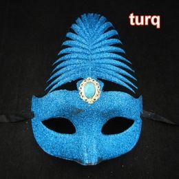 Wholesale Luxury Prince Mask Halloween Party Masks Full Gold Banana Leaf Diamond Mask Half Face Sexy Woman Masks Venetian Masquerade mask