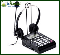Wholesale Call Center Telephones headsets telephones with RJ09 RJ11 Jack and one headsets