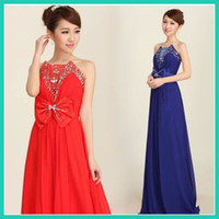 Wholesale women s tube top Diamond sequins bow formal evening dress Openwork mesh chiffon dresses
