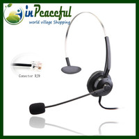 Wholesale Professional Call Center telephone monaural headset with RJ9 RJ11 plug