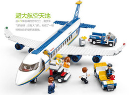 Wholesale 0336 Educational Toys for children Building Blocks airbus plane self locking bricks