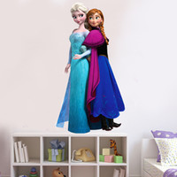 Wholesale Details about FROZEN Queen Elsa amp Anna Wall Stickers Decal Removable Kids Decor Room Mural Art
