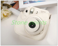Wholesale Fujifilm Instax Camera Mini Leather Bag Blue Polaroid Camera Bag for Mini