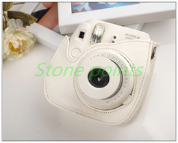 Fujifilm Instax Camera Mini 8 Leather Bag Blue Polaroid Camera Bag for Mini 8 Free Shipping