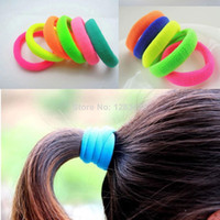 Wholesale Girls Womens Elastic Hair Rubber Bands Fashion Sports Novelty Rubber Band Ties Hair Rope Seamless Hairband Multi Colors
