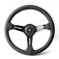Wholesale 14 inch NOBLE Leather NARDl Drifting Racing Steering Wheel