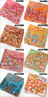 Wholesale 130 cm New Fashion Multicolor Floral Pattern Quality Scarf Square Sacrves Facecloth Female Big Scarf Hijabs Cape