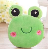 Women's Coin Purses Yes Wholesale-MN-6PCS Super Kawaii NEW Green Grog Plush Coin Bag Purse & Wallet Case Pouch ; Mini Pendang Hand BAG Storage Pouch CASE BAG