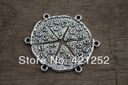 40pcs Large Slice Of Pizza Charm Silver tone 20mm x 19mm Food Charm BBF Friendship Best Friends Family Pendant
