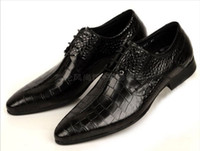 Wholesale Hot Sale British men s fashion stone grain pointed authentic leather business dress shoes for men