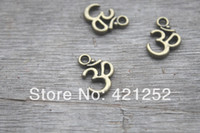 Wholesale 120pcs OM charms x mm antique bronze tone ohm Pendant Necklace Yoga Zen