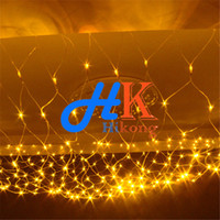 Wholesale LED Net Lights m x m Leds Meshwork Lamp Christmas Wedding Party Holiday Ornament Decoration String Curtain Light Fairy Lamp