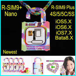 Wholesale Rsim9 rsim RSIM9plus R SIM9 nano cloud universally compatible S C S Suitable all systems from iOS5 X iOS6 iOS7 to Bata8 X