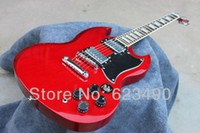 Solid Not Specified Left-handed Best Price Free shopping G -SG Electric guitar Special new Red color Wholesale new style reissue vos killer top