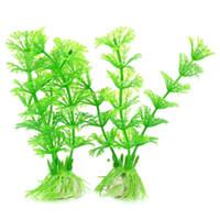 artificial grass - Aquarium decorations Artificial Water Plants Grass Green White