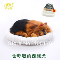 Wholesale MN Shih Tzu pampered petz pet mate breathing dog cute toy sleeping pet emulational mini vivid toy