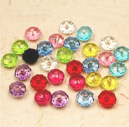 Wholesale 500g Transparent Faceted Crystal Acrylic mm mm mm Flat Round Rondelles Donut Spacer Loose Beads U Pick Colors Jewelry DIY Material