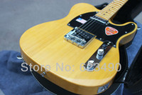Wholesale Best Price HOT High Quality Custom Yellow Tele Electric Guitar Ameican Sandard Telecaster with Pearl Pickguard in stock