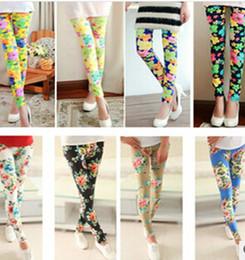 Wholesale Fashion Sexy Women Leggings Elastic printed Tights Girl Graffiti slim ninth pants capris skinny pants clothing