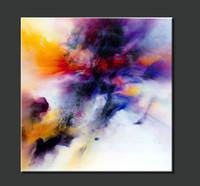 Ручная роспись Известный декор Абстрактная живопись маслом на холсте площади абстрактной Искусство для дома / Бизнес украшения 1шт