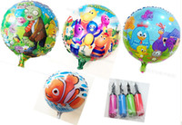 Wholesale 8 off EMS hot sale Cute Animal prints balloons decoration Hydrogen balloons Mixed38styles Classic toys cm Free gift pump GX