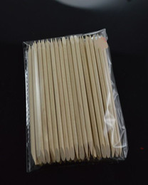 Wholesale Nail Art Orange Wood Stick Cuticle Pusher Remover K