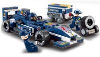 lock box - With original box Educational Toys for children Building Blocks F1 racing car self locking bricks