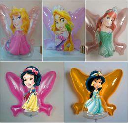 Wholesale 2014 New Mid Autumn Lantern Music Portable Inflatable Toys Lantern Frozen Elsa Anna Snow White Fairy Mixed Designs